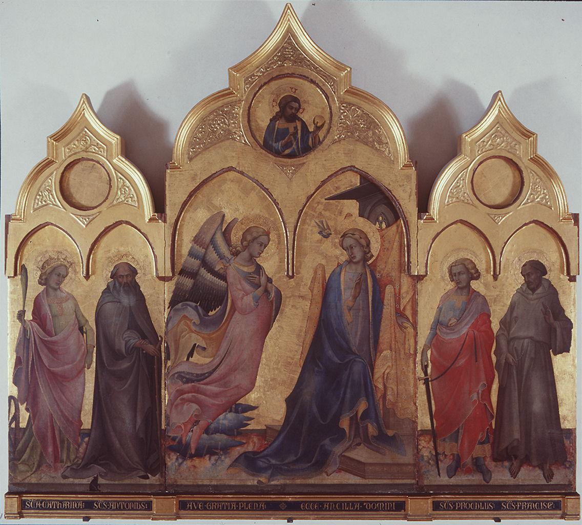 Trittico di San Procolo, Annunciazione e Santi (trittico) di Lorenzo Monaco (sec. XV)