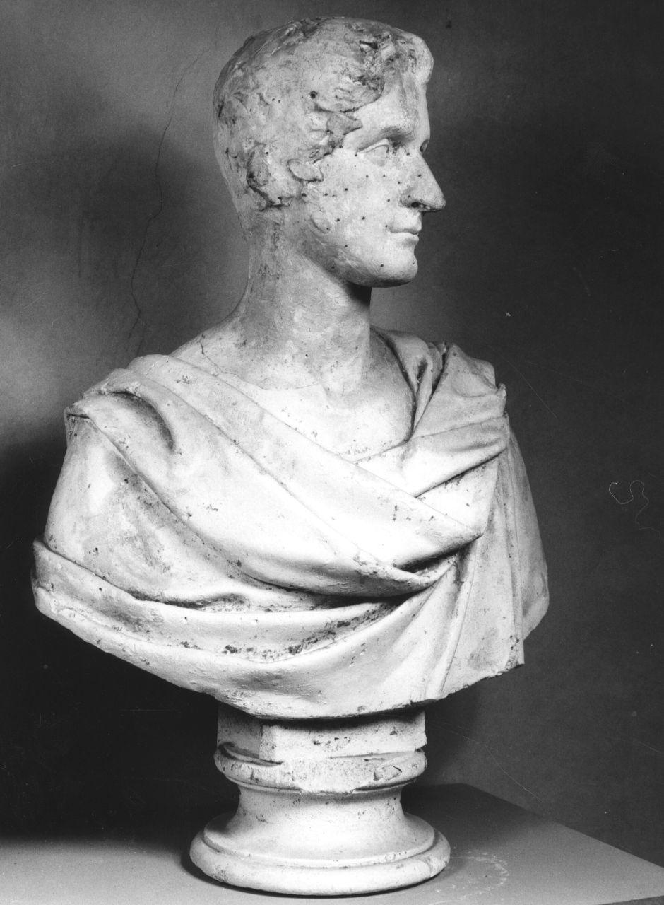 busto ritratto maschile (busto) di Bartolini Lorenzo (sec. XIX)
