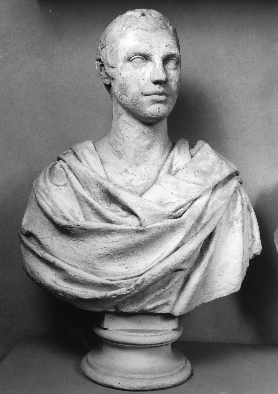 busto ritratto d'uomo panneggiato (busto) di Bartolini Lorenzo (prima metà sec. XIX)