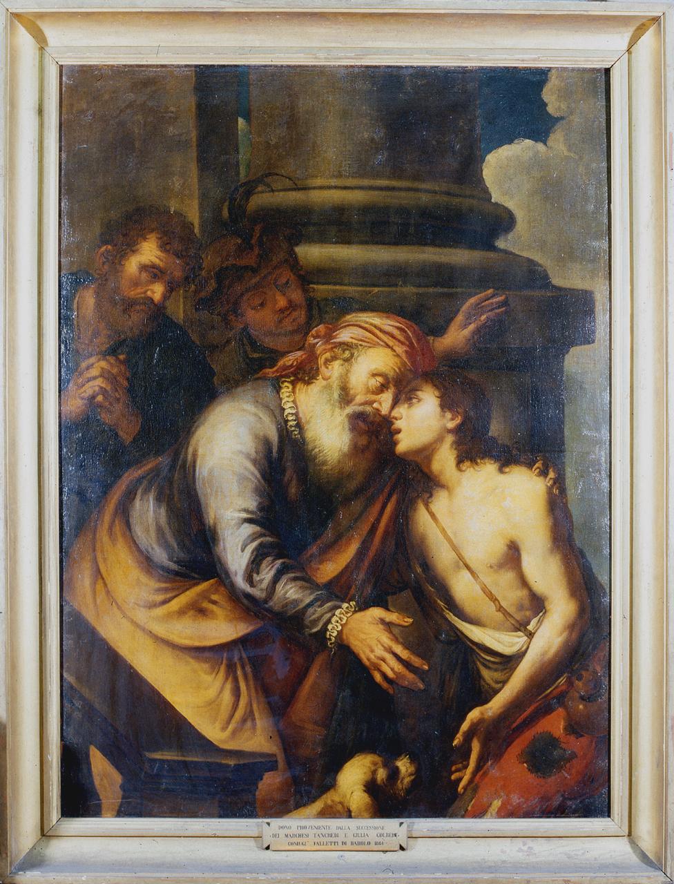 ritorno del figliol prodigo (dipinto, opera isolata) di Spada Lionello (attribuito) (metà sec. XVII)