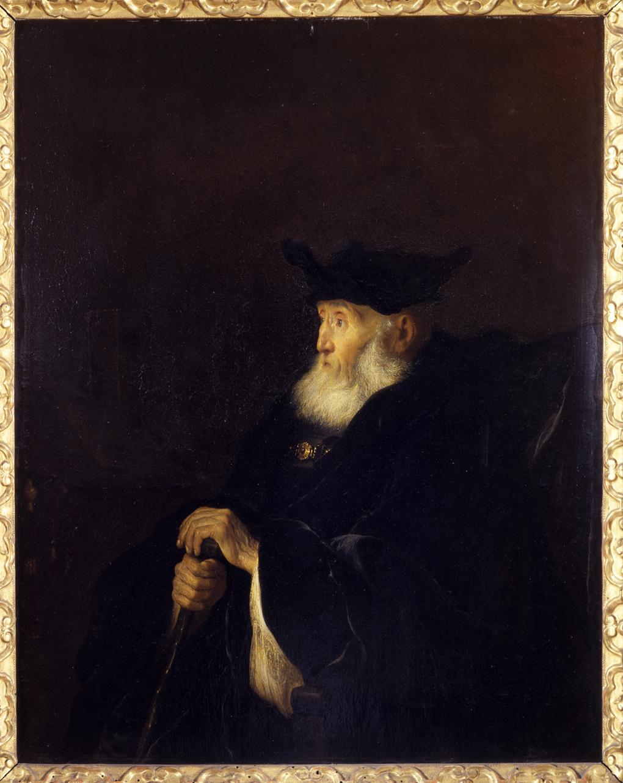 ritratto di rabbino (dipinto, opera isolata) di Koninck Salomon - ambito olandese (sec. XVII, metà)