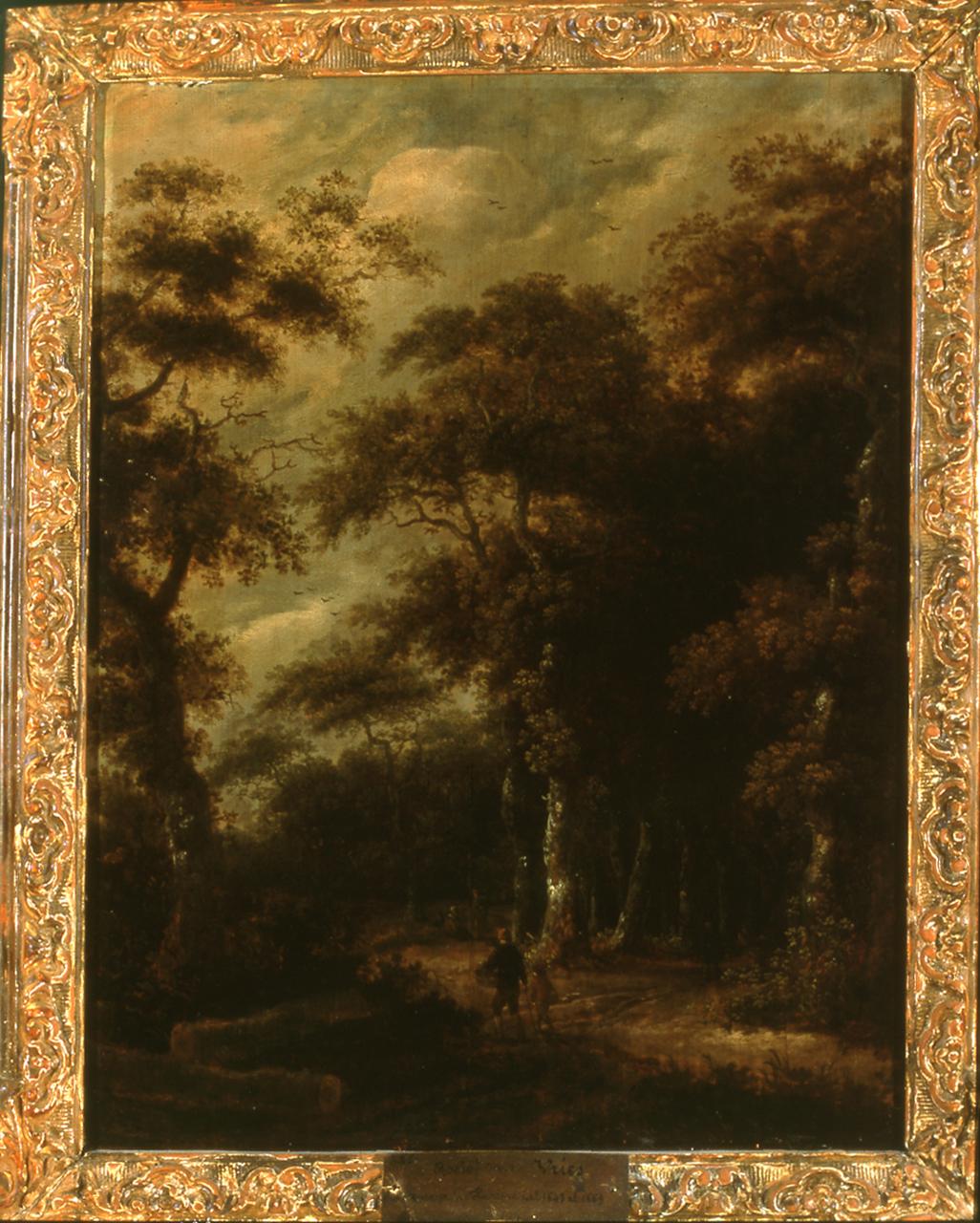 paesaggio con figure (dipinto, opera isolata) di van Vries Roelof Jansz - ambito olandese (sec. XVII, terzo quarto)
