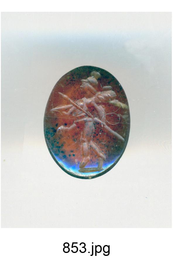 Marte Gradivus (gemma) - produzione romana (secc. II/ III)