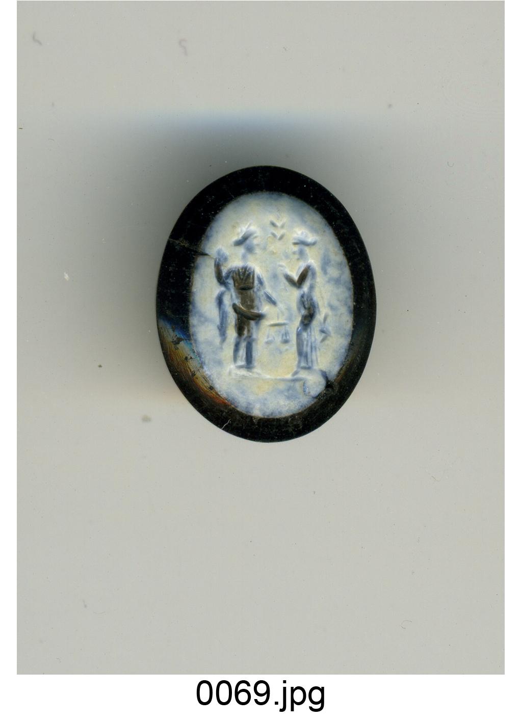Aequitas e Apollo (?) (gemma) - produzione romana (sec. II)