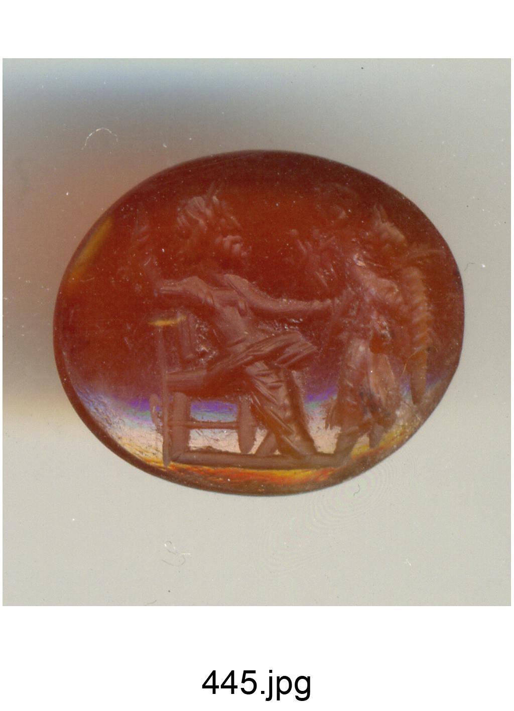 Giove seduto e Vittoria alata (gemma) - produzione romana (secc. II/ III)