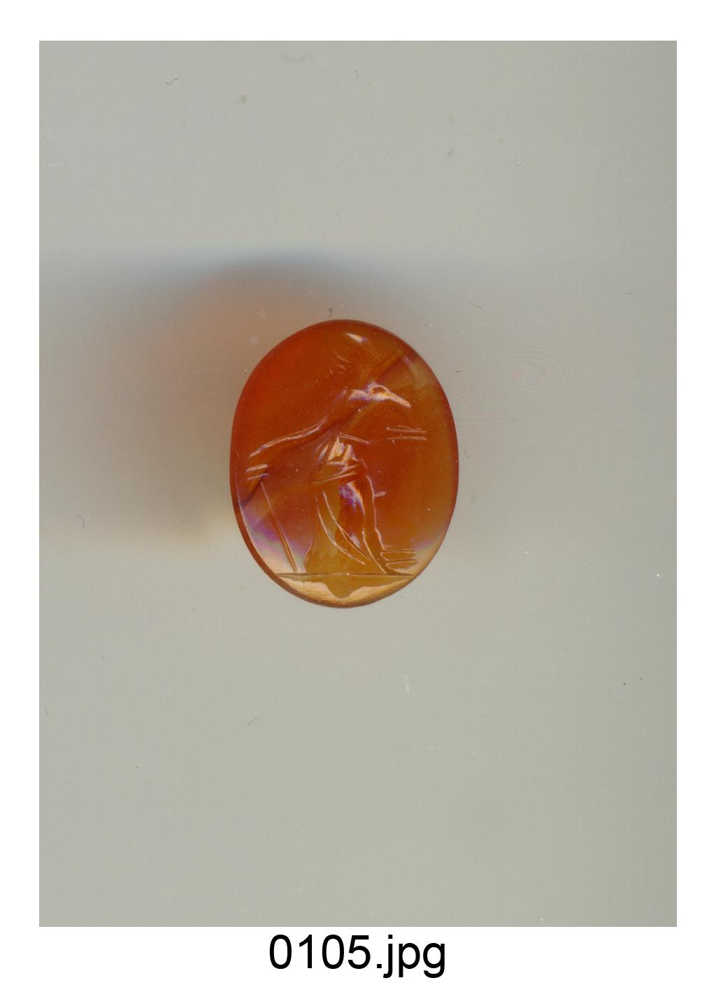 figura maschile (gemma) - produzione italiana (secc. XVI/ XVIII)