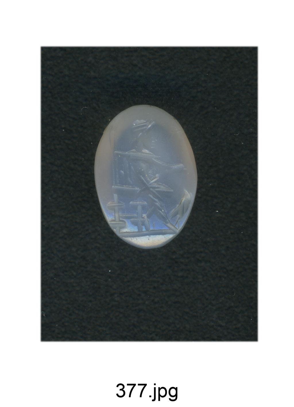 Giove seduto con patera e aquila ai piedi (gemma) - produzione romana (fine/ fine secc. II/ III)