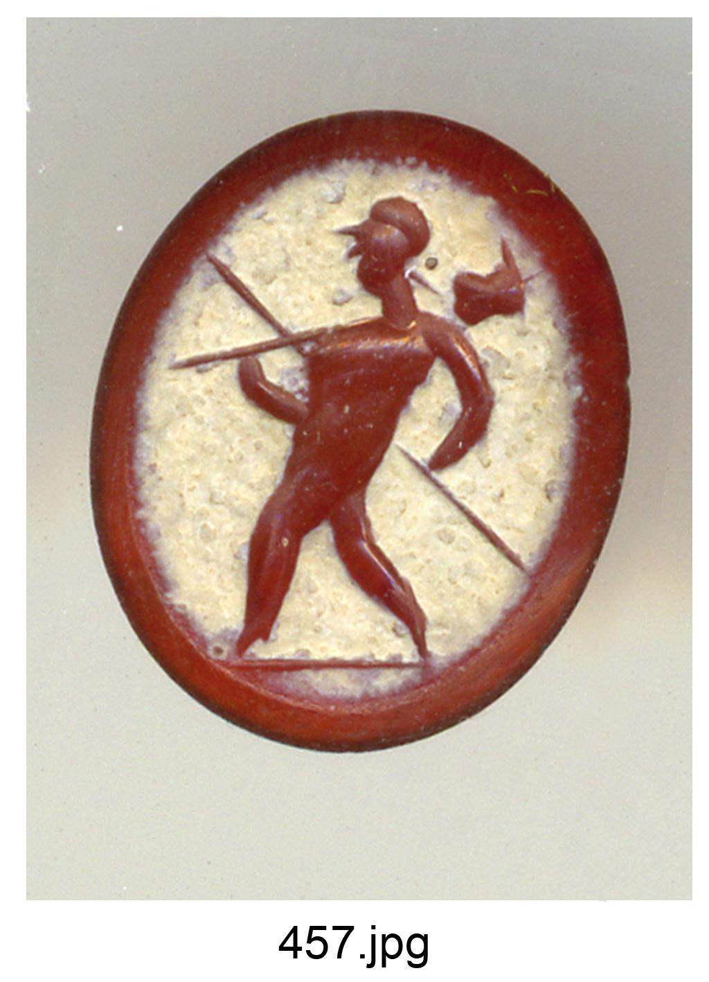 Marte Gravidus (gemma) - produzione romana (sec. II)
