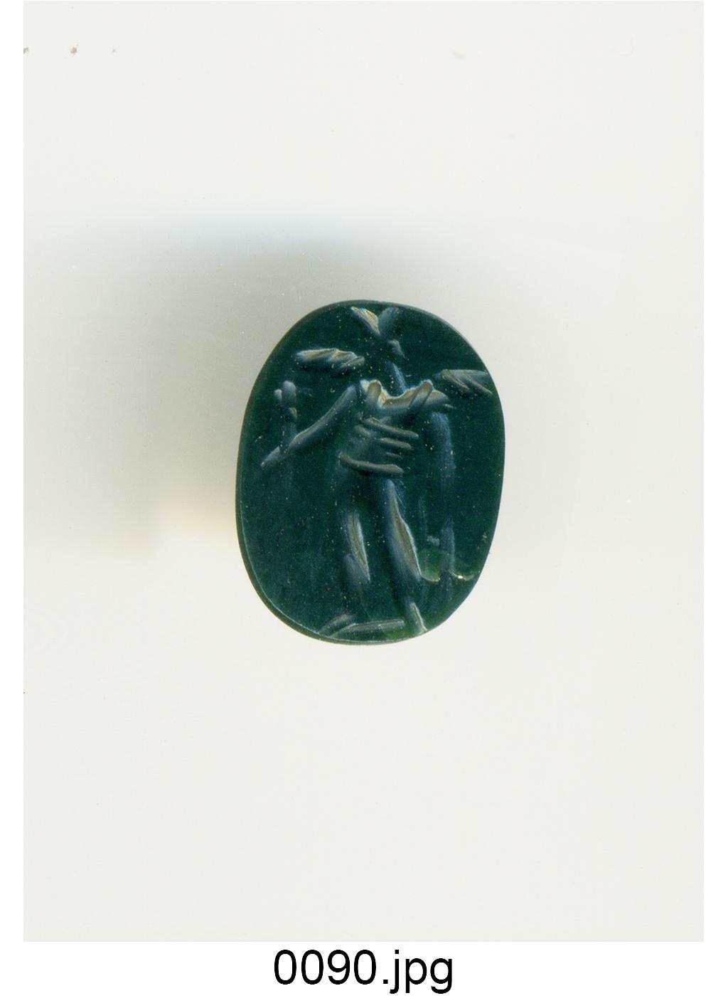 figura alata (gemma) - produzione italiana (sec. XVIII)