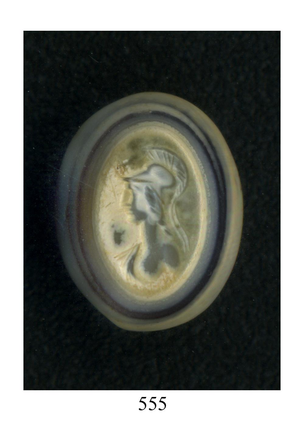Busto di Roma (gemma) - produzione romana (secc. I a.C./ I)
