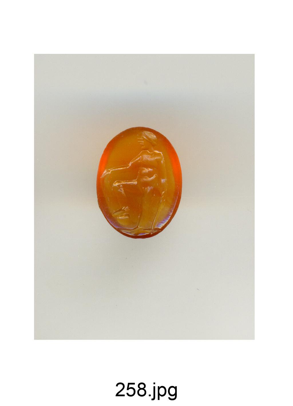 figura maschile nuda (gemma) - produzione italiana (secc. XVI/ XVII)