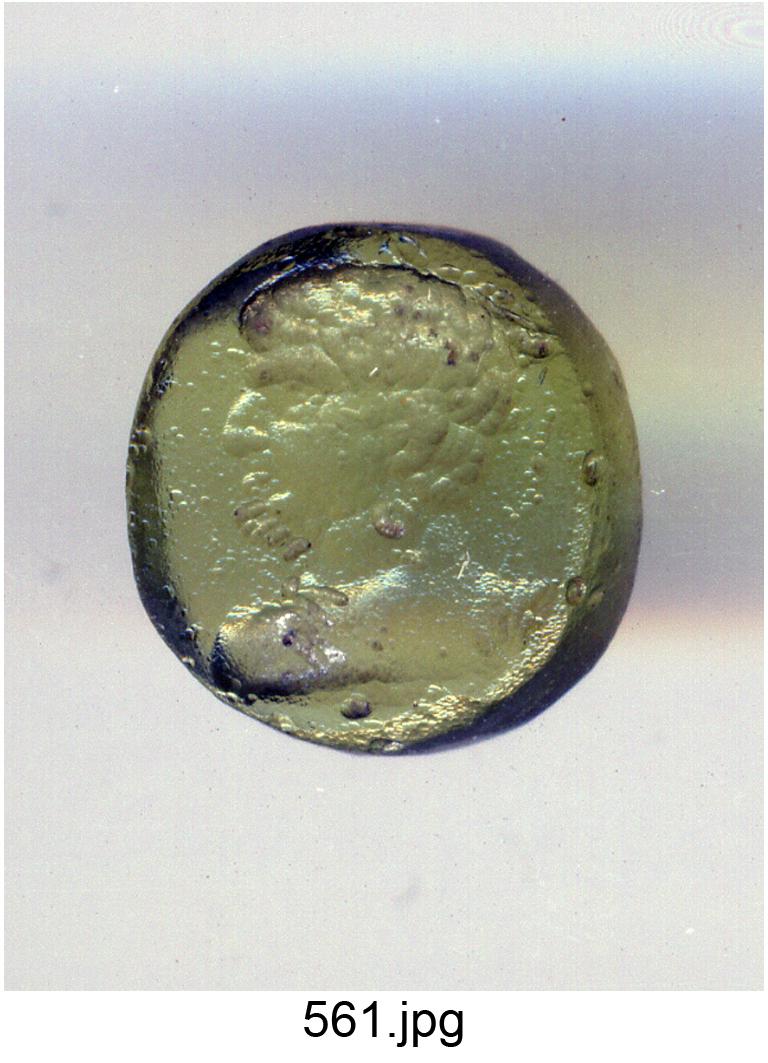 busto maschile (gemma) - produzione italiana (secc. XVI/ XVII)