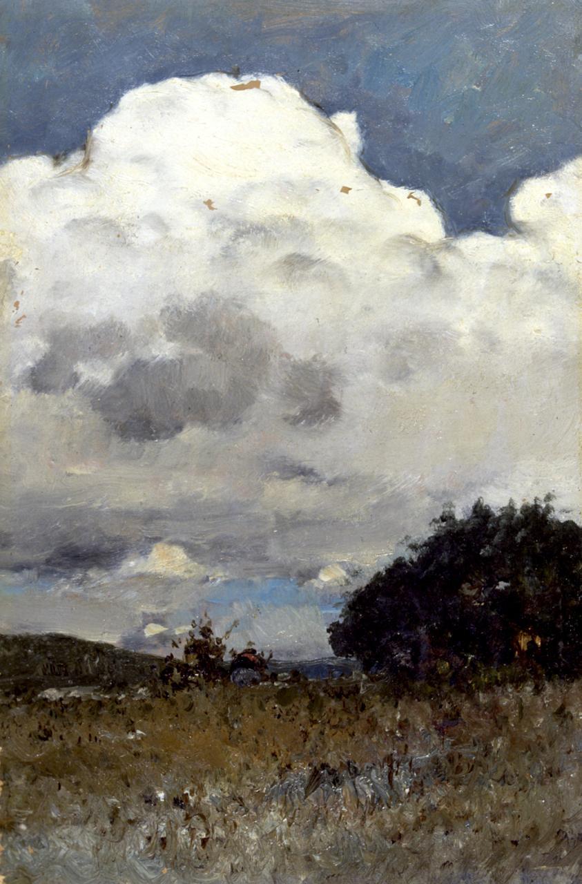 Nuvola temporalesca, paesaggio (dipinto) di Cabianca Vincenzo (sec. XIX)