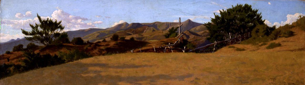 Alture, paesaggio montano (dipinto) di Borrani Odoardo (sec. XIX)