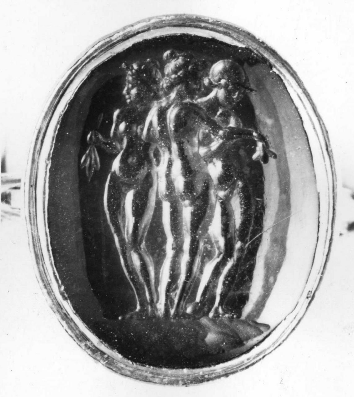 le tre Grazie (decorazione a intaglio) - bottega italiana (prima metà sec. XVIII)