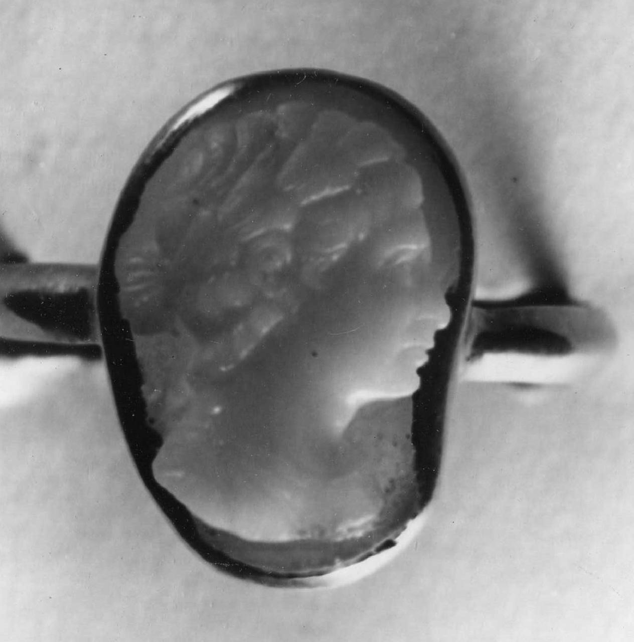 testa d'uomo di profilo (cammeo) - bottega italiana (sec. XVII)