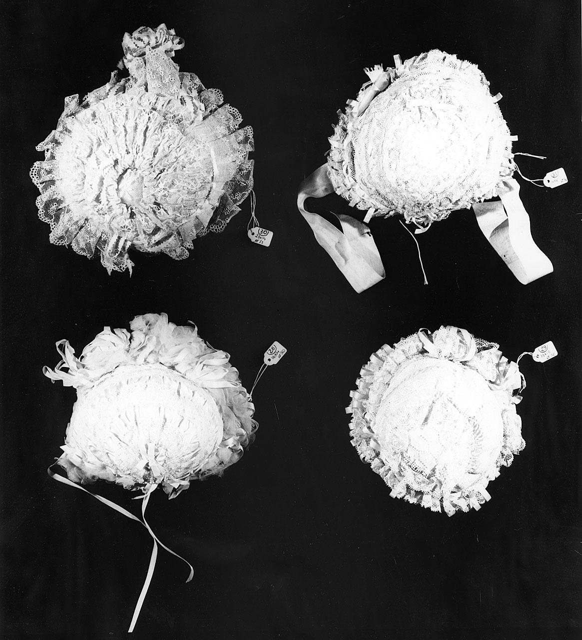 cuffia da neonato - manifattura italiana (ultimo quarto sec. XIX)