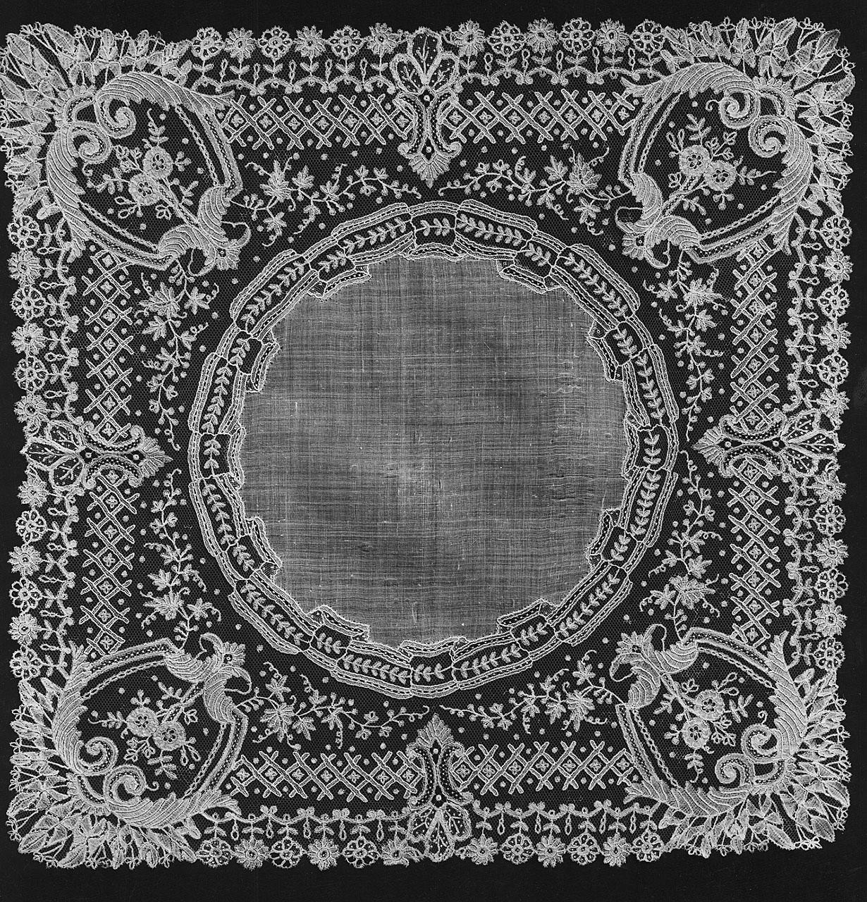 fazzoletto - manifattura di Bruxelles (seconda metà sec. XIX)