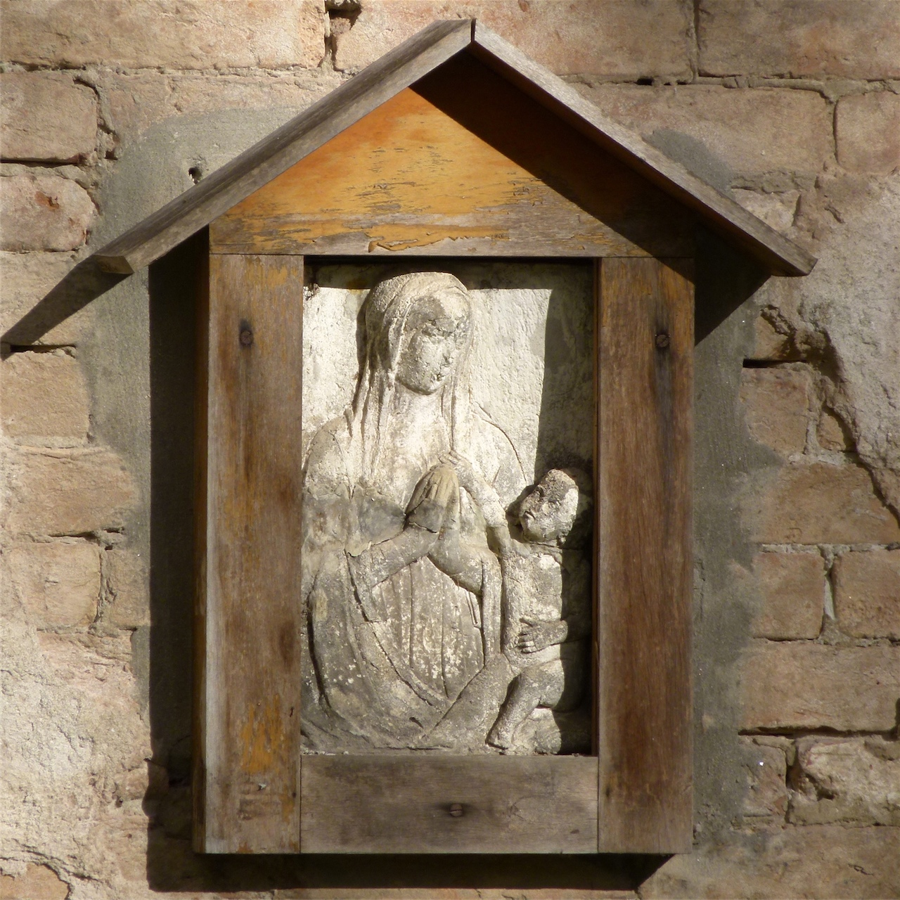 Madonna con Bambino (tabernacolo, opera isolata) - produzione veneziana (fine/ inizio secc. XIX-XX)