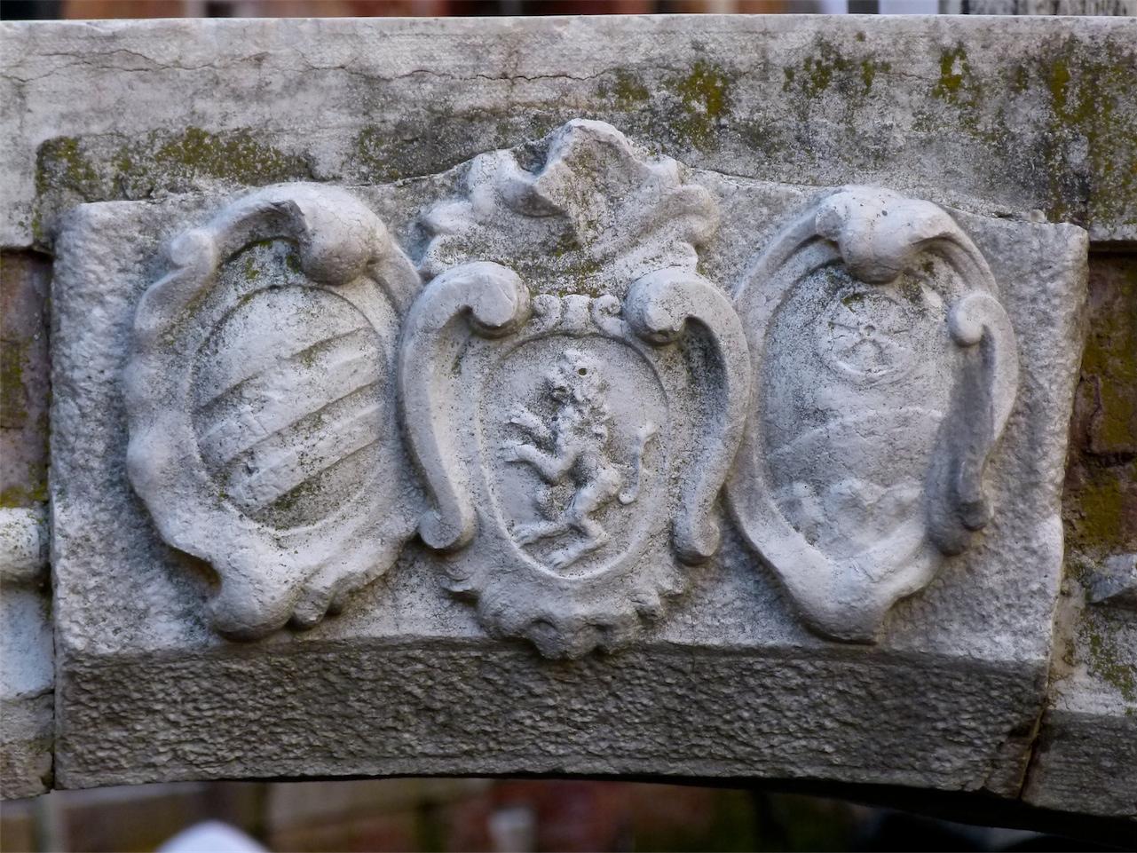 araldica (chiave di volta, opera isolata) - produzione veneziana (sec. XVIII)