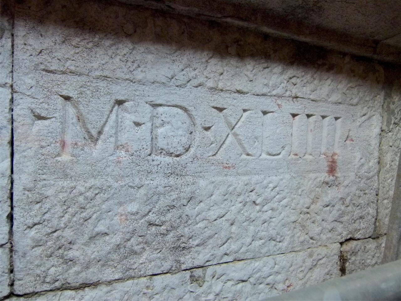iscrizione (concio, opera isolata) - ambito veneziano (secondo quarto sec. XVI)