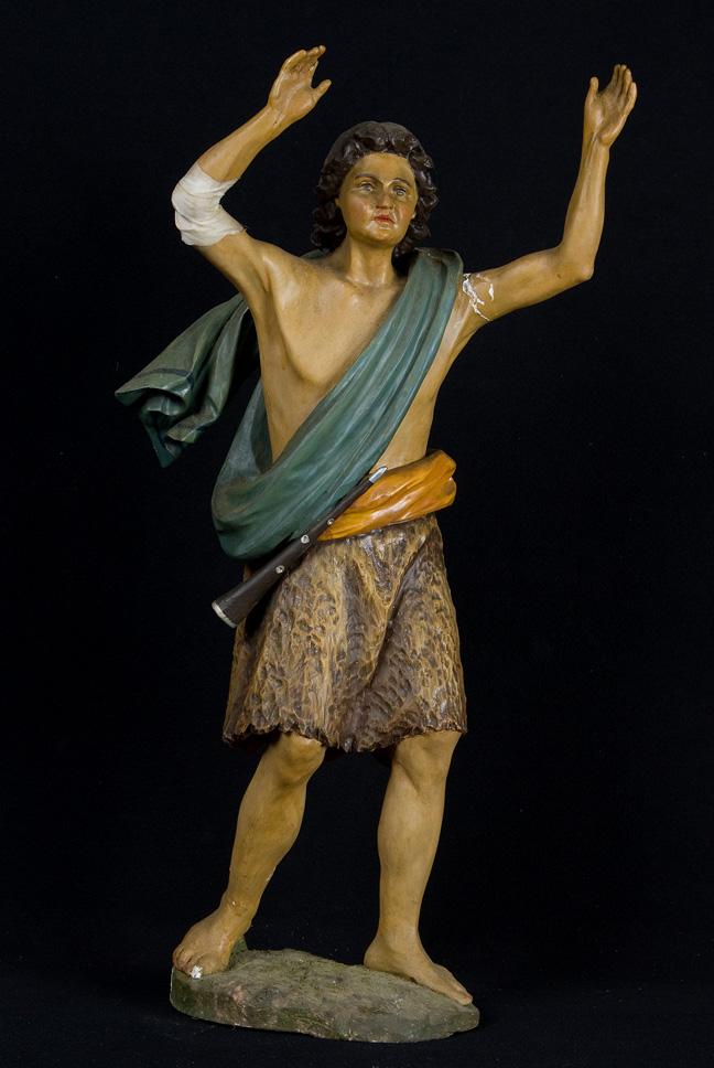 Pastore (statua da presepio, insieme) - ambito veneto (seconda meta' XIX)