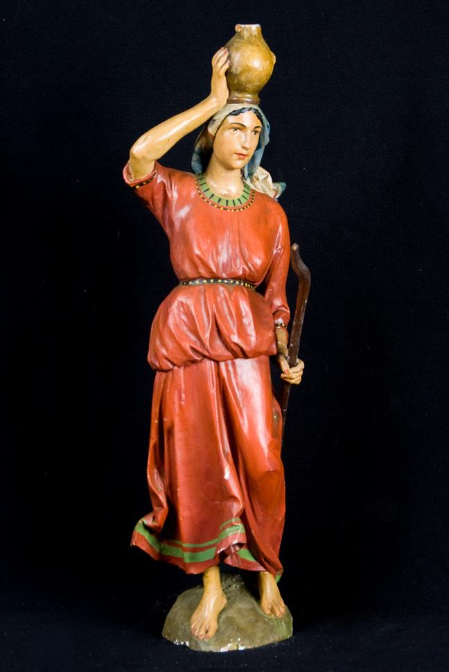 Pastorella (statua da presepio, insieme) - ambito veneto (seconda meta' XIX)