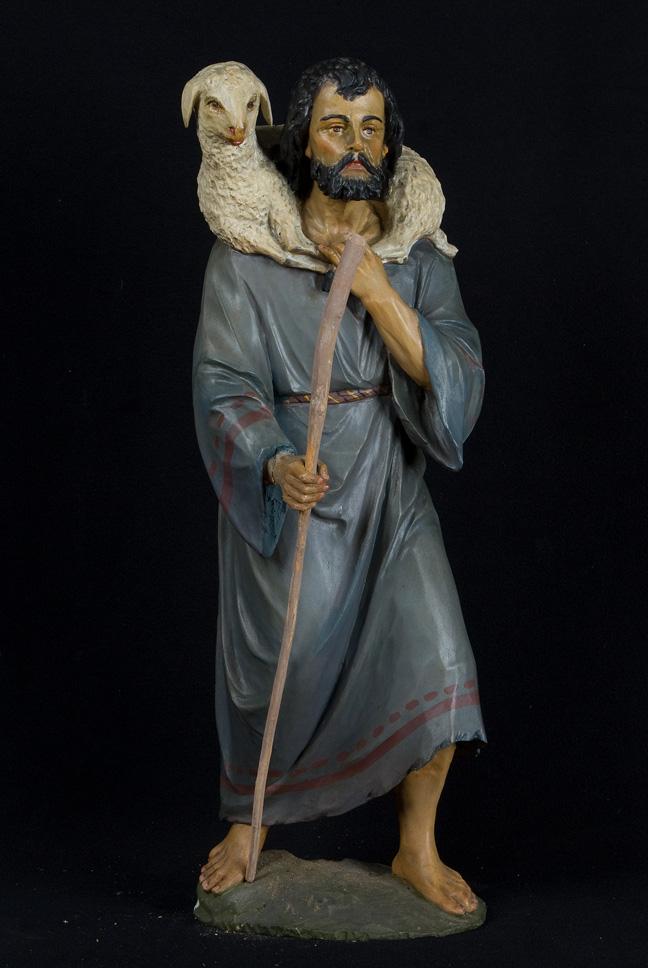 pastore, figura maschile (statua da presepio, insieme) - ambito veneto (seconda meta' XIX)