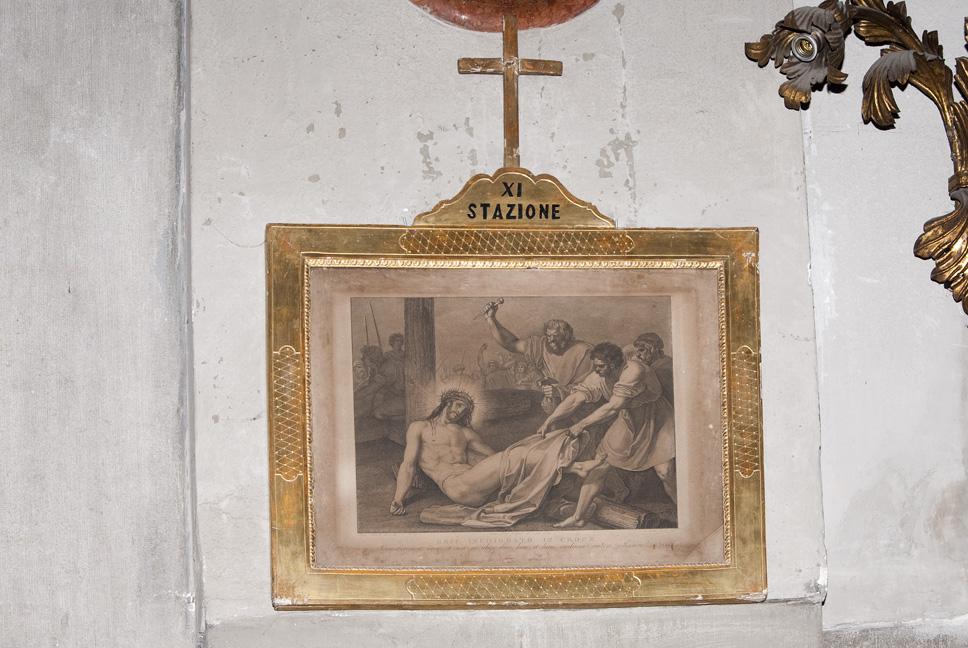 Stazione XI: Gesù inchiodato alla croce, Stazione della Via Crucis (stampa) di Sabatelli Luigi, Pera Giuseppe, Eredi Benedetto (prima meta' XIX)