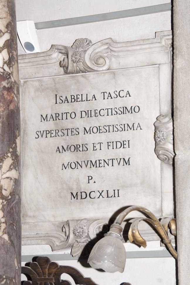 lapide commemorativa, opera isolata - ambito veneto (meta' XVII)
