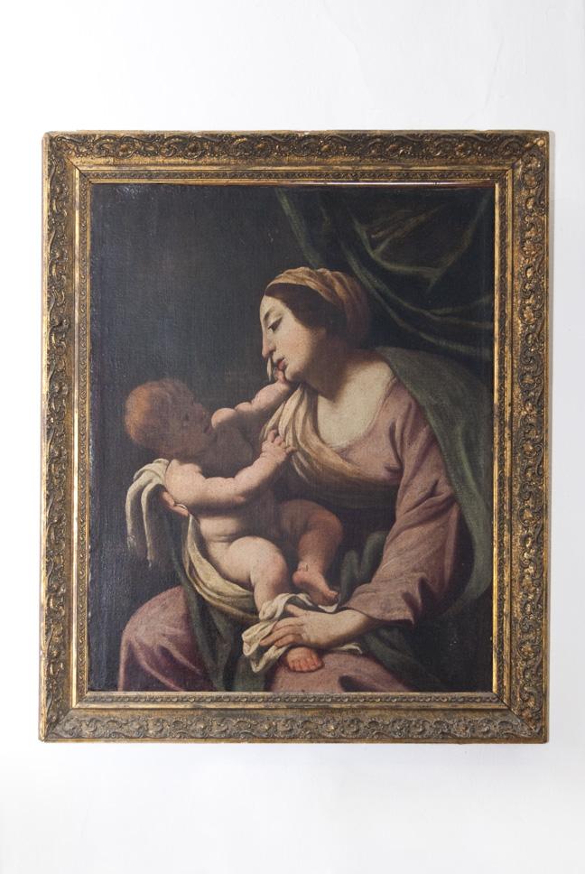 Madonna con Bambino (dipinto, opera isolata) - ambito bolognese-emiliano (seconda meta' XVII)