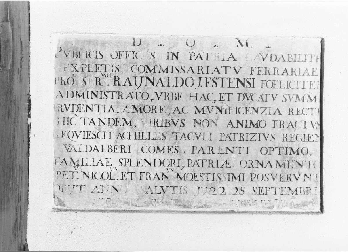lapide tombale - manifattura emiliana (sec. XVIII)