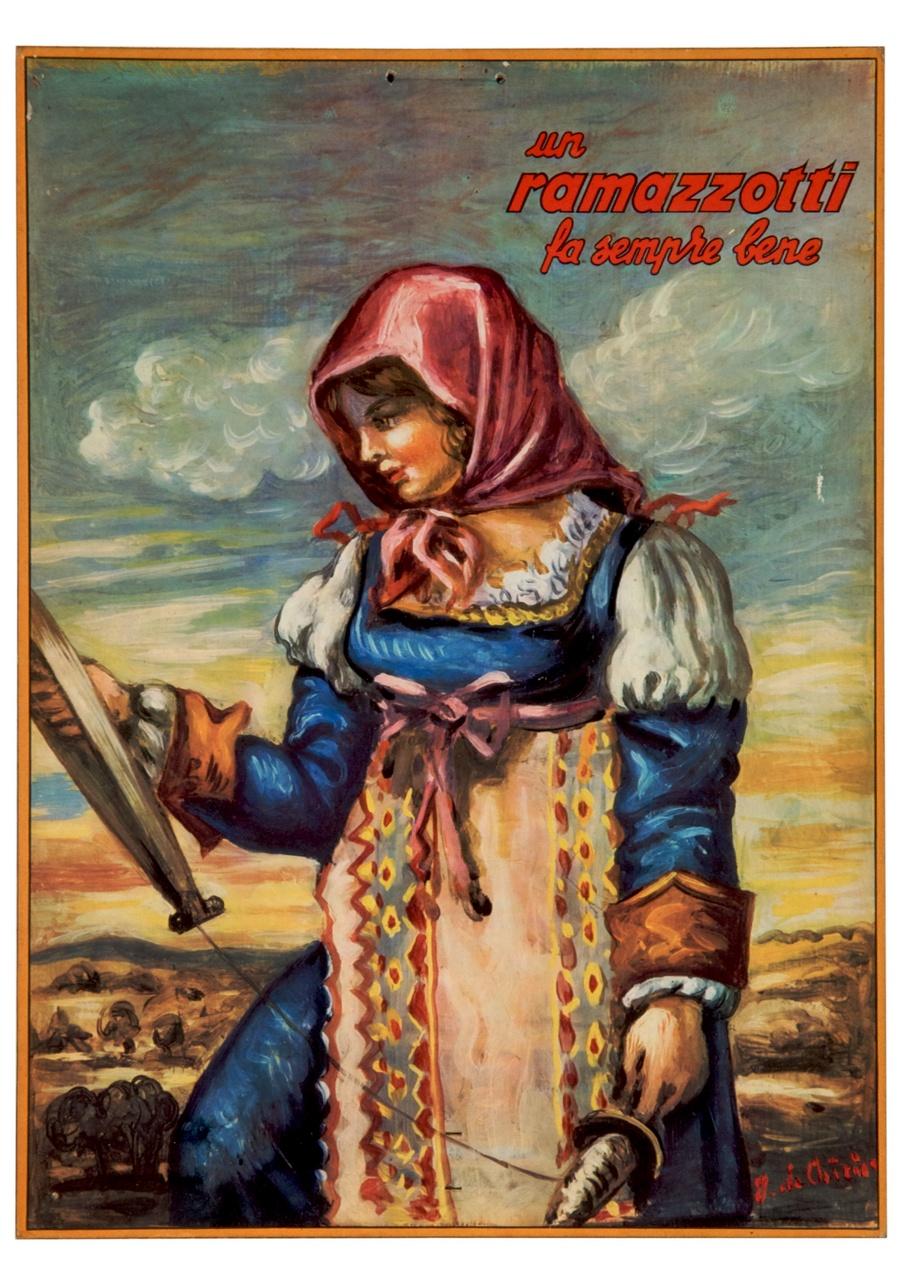 fanciulla in abito tradizionale di Lucera (calendario) di De Chirico Giorgio (sec. XX)