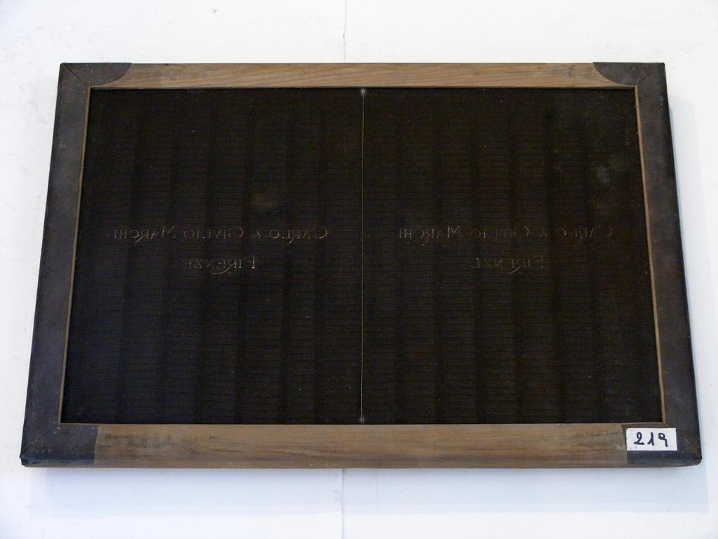 forma da carta - ambito pesciatino (prima metà sec. XX)