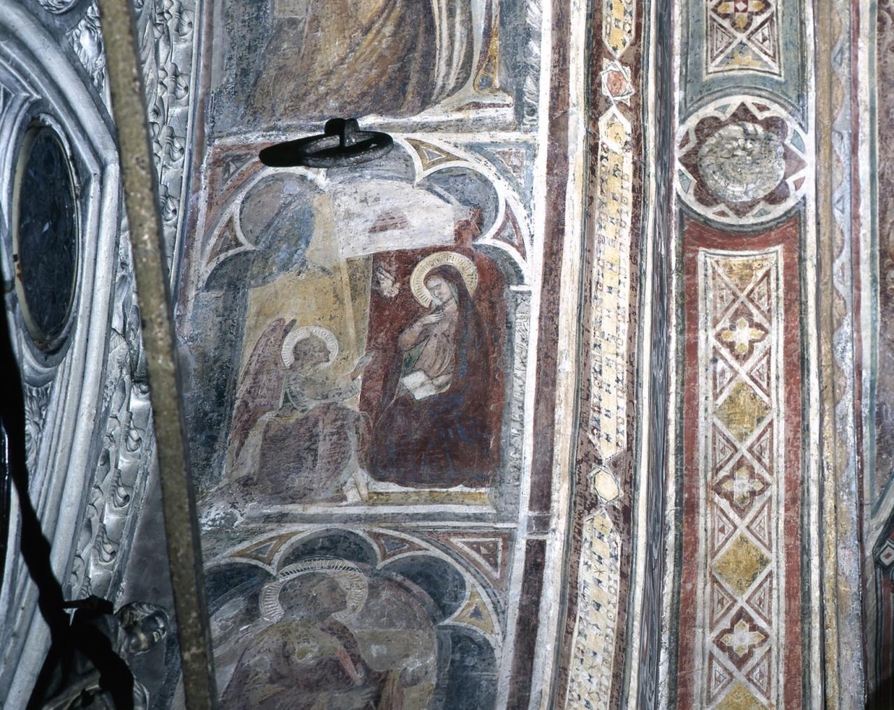 Annunciazione (dipinto murale) - scuola fiorentina (fine/ inizio secc. XIV/ XV)
