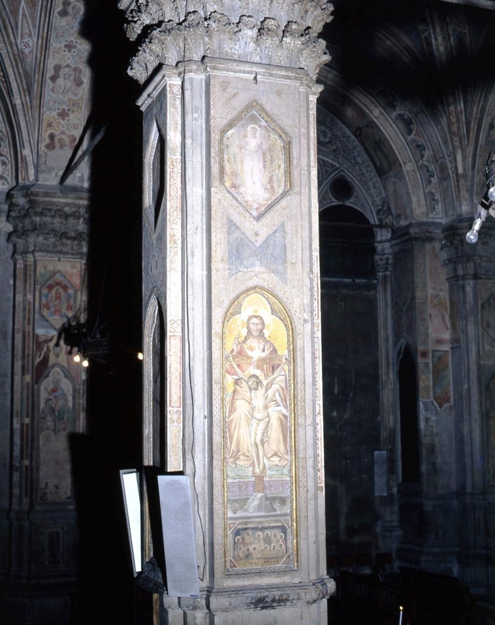 Acensione di Cristo/ Trinità/ Pentecoste (dipinto murale) di Gerini Niccolò di Pietro (inizio sec. XV)