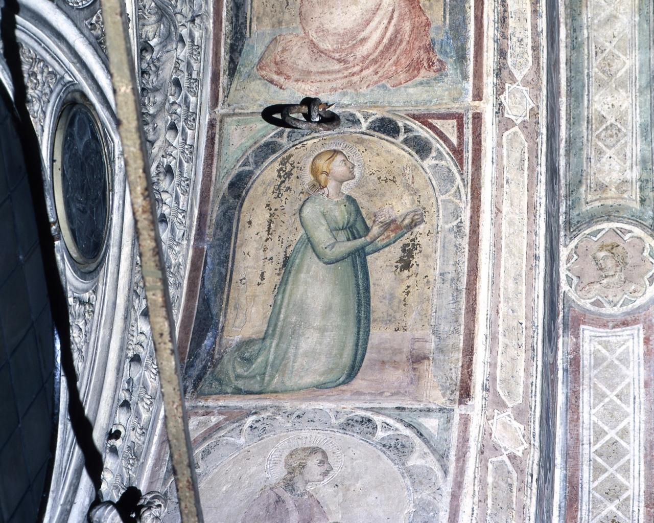 Santa Dorotea (dipinto murale) - scuola fiorentina (fine/ inizio secc. XIV/ XV)