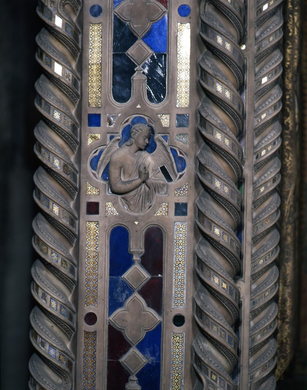 angelo orante (rilievo, coppia) di Andrea di Cione detto Andrea Orcagna (e aiuti) (sec. XIV)
