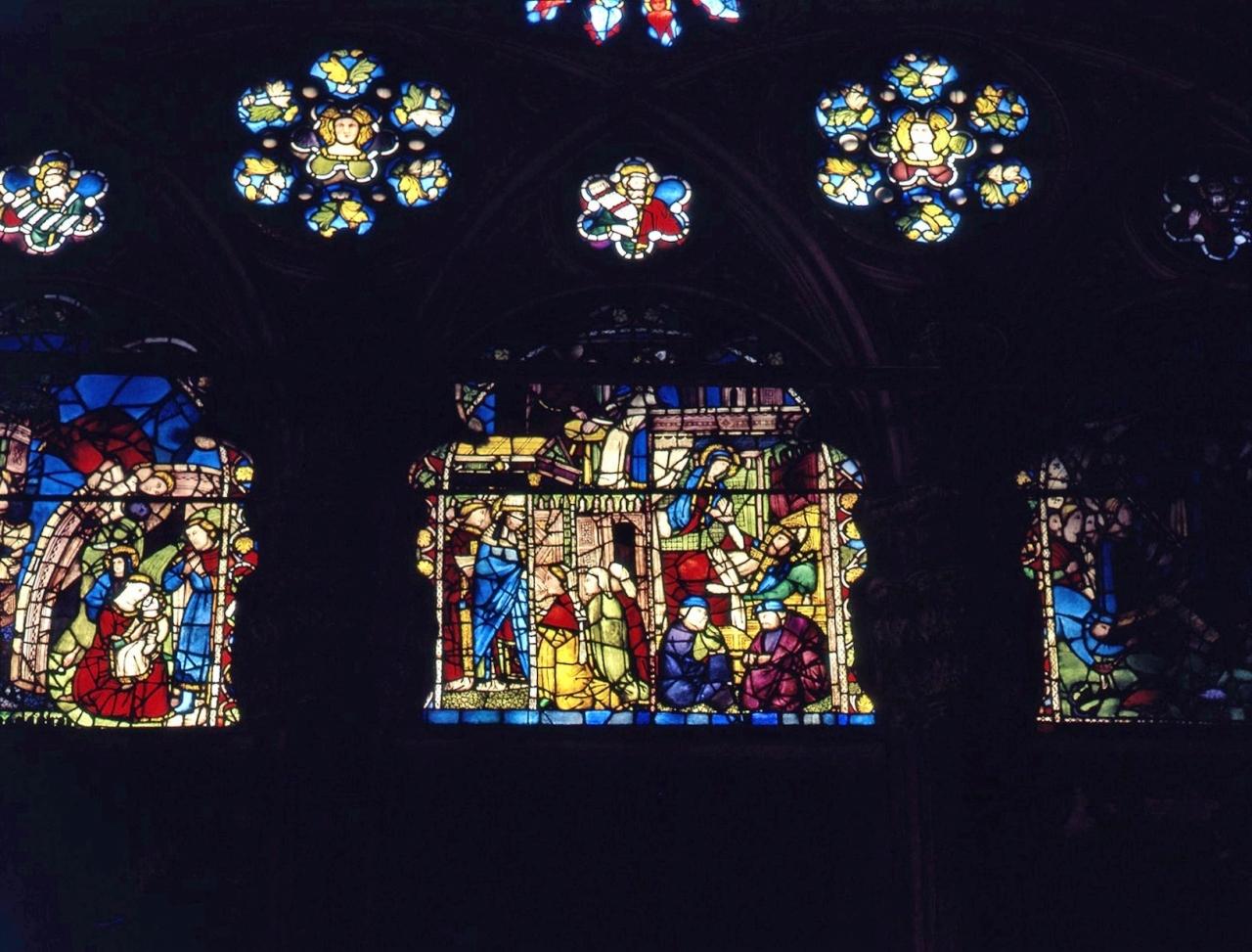 miracolo della Madonna (vetrata) - bottega fiorentina (secc. XIV/ XV)