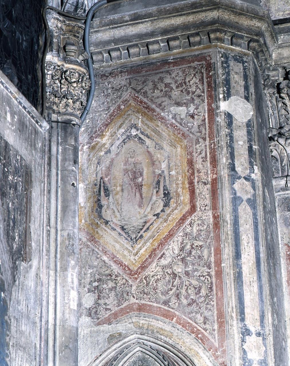 assunzione della Madonna (dipinto murale) - scuola fiorentina (sec. XV)