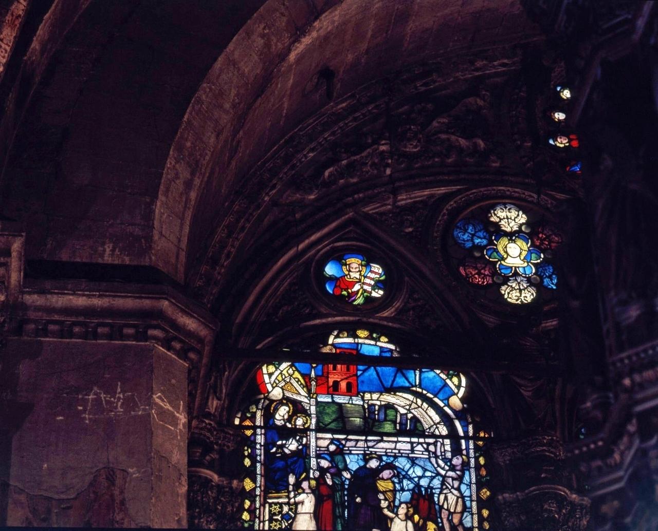 Santa (vetrata) - bottega fiorentina (fine/ inizio secc. XIV/ XV)