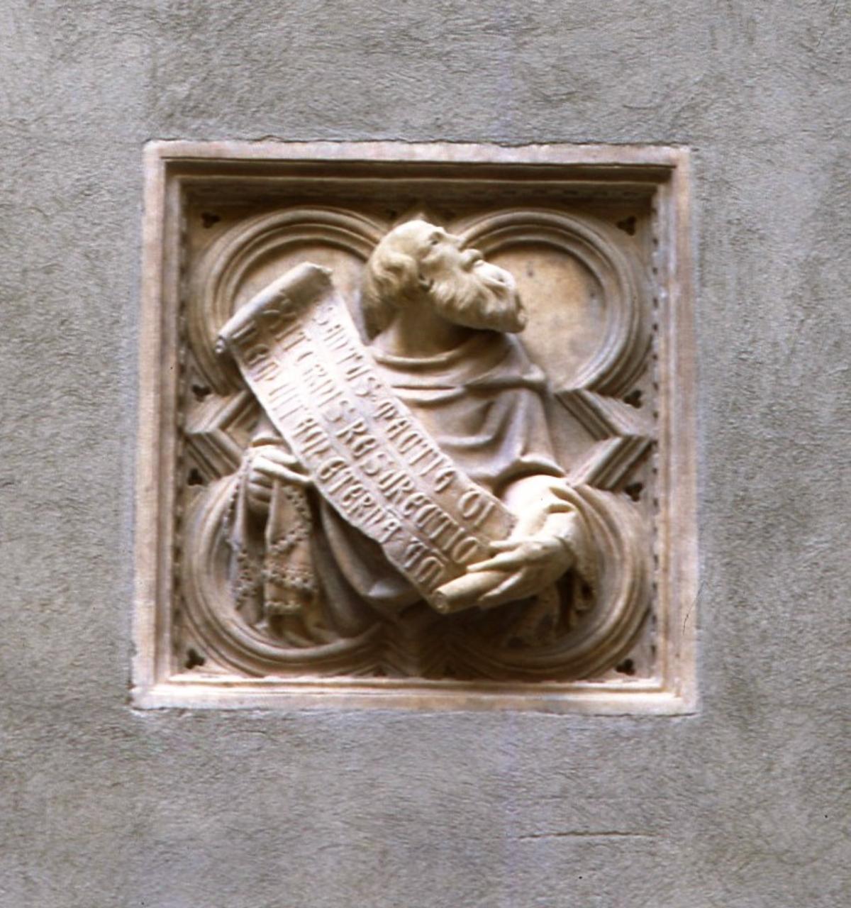San Mattia apostolo (formella) di Giovanni di Balduccio detto Giovanni da Pisa (secondo quarto sec. XIV)