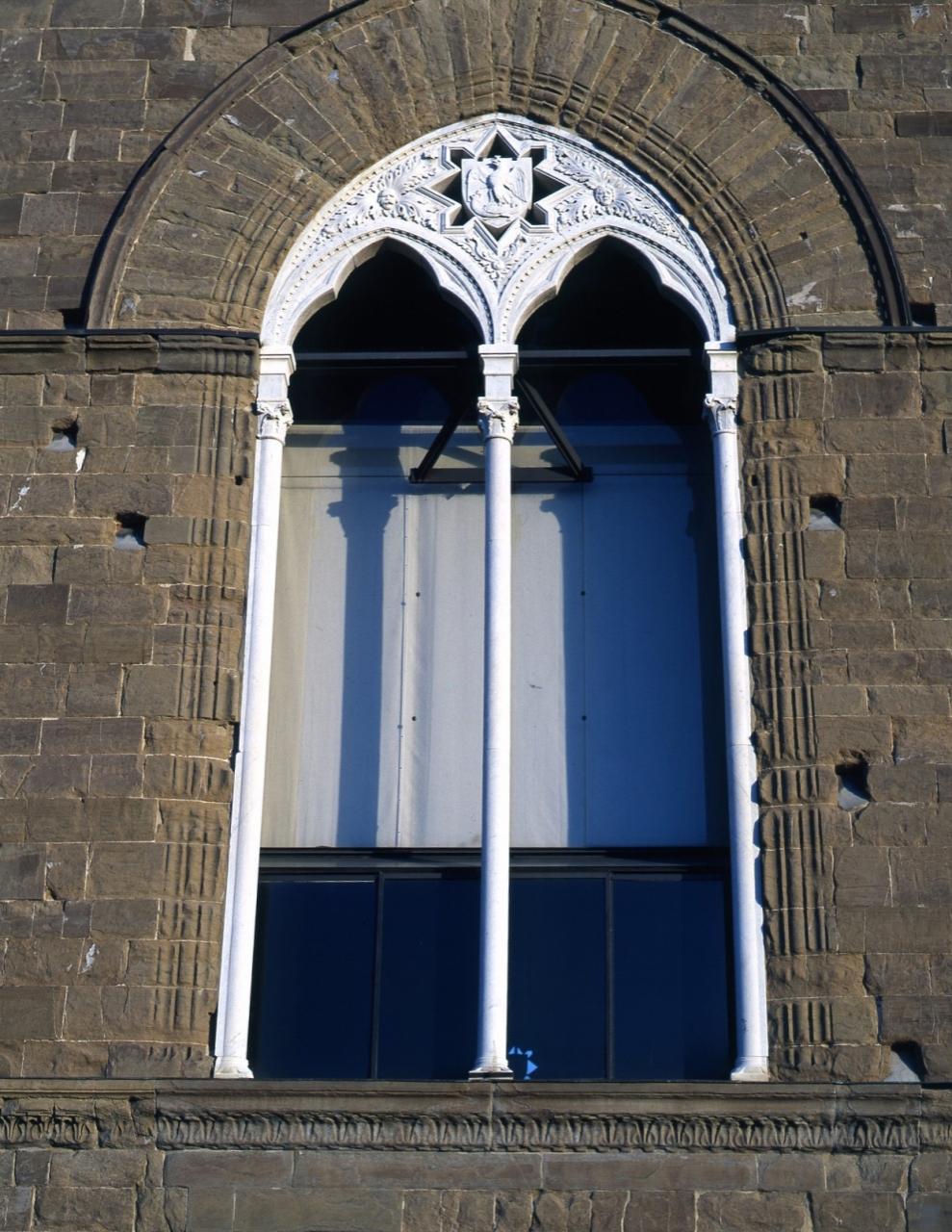 stemma di Parte Guelfa (bifora) - manifattura fiorentina (ultimo quarto sec. XIV)