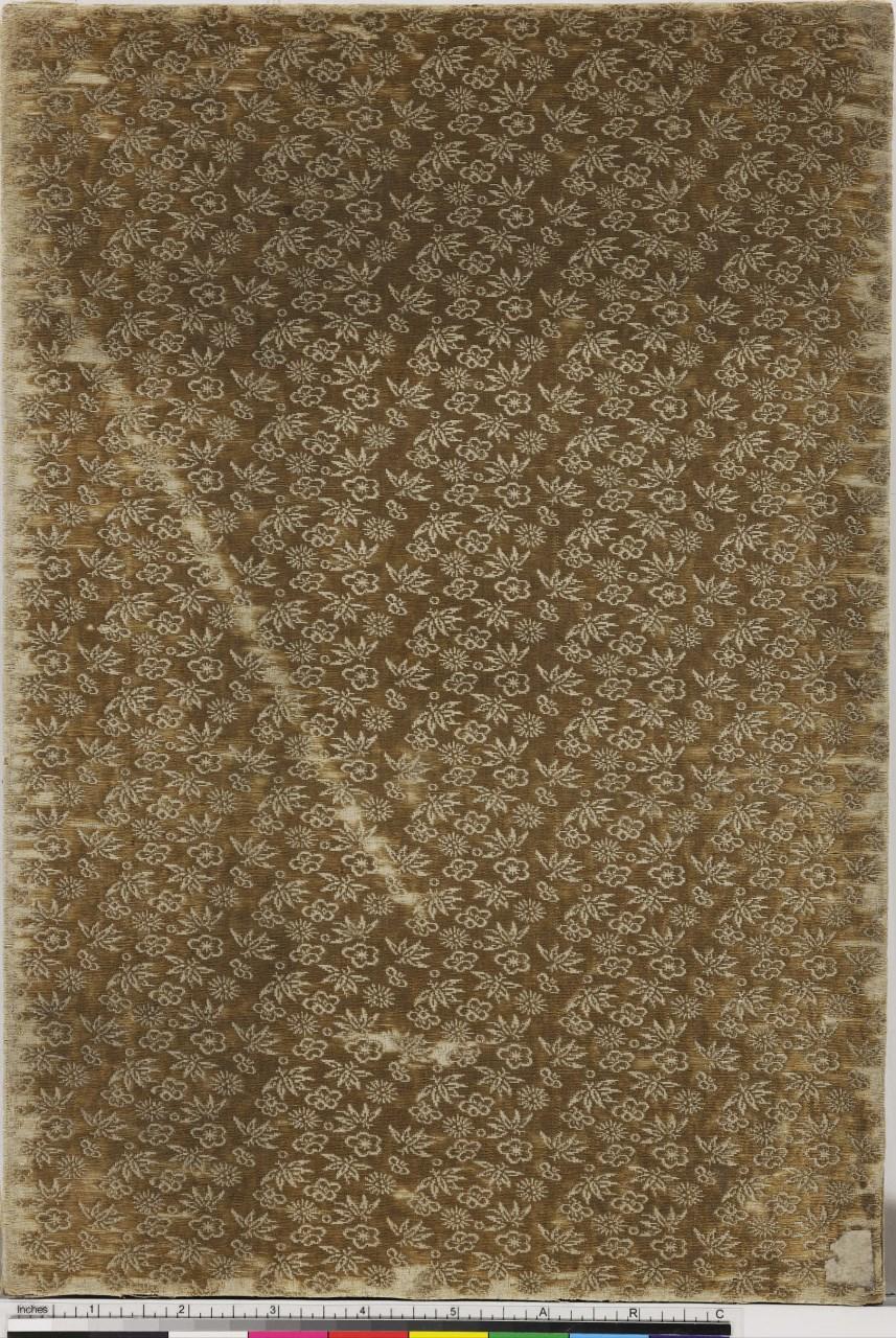 motivi decorativi stilizzati (coperta di libro) - ambito giapponese (secc. XVII/ XIX)