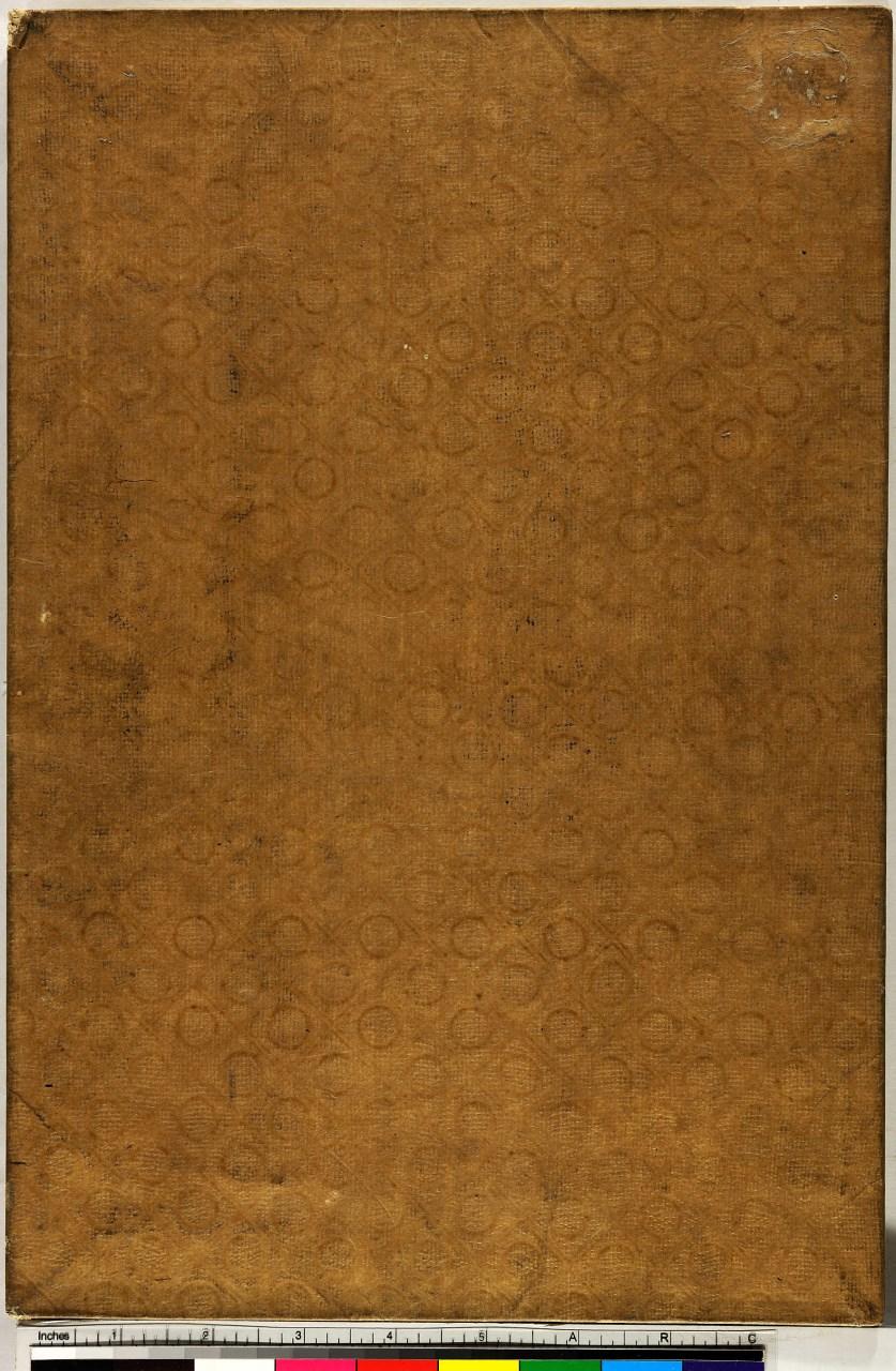 motivi decorativi geometrici (coperta di libro) - ambito giapponese (sec. XIX)