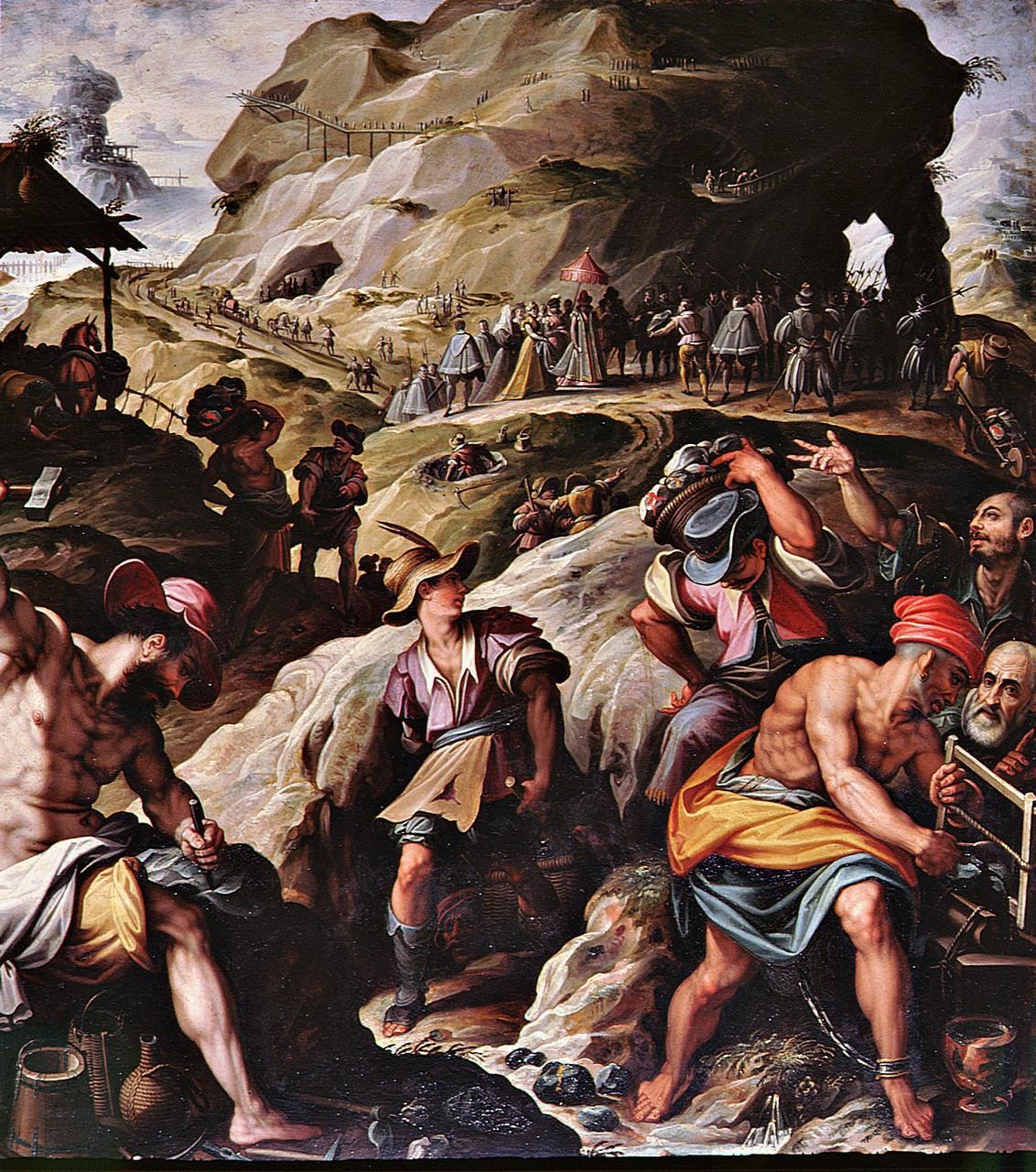 miniera d'oro (dipinto) di Zucchi Jacopo (sec. XVI)