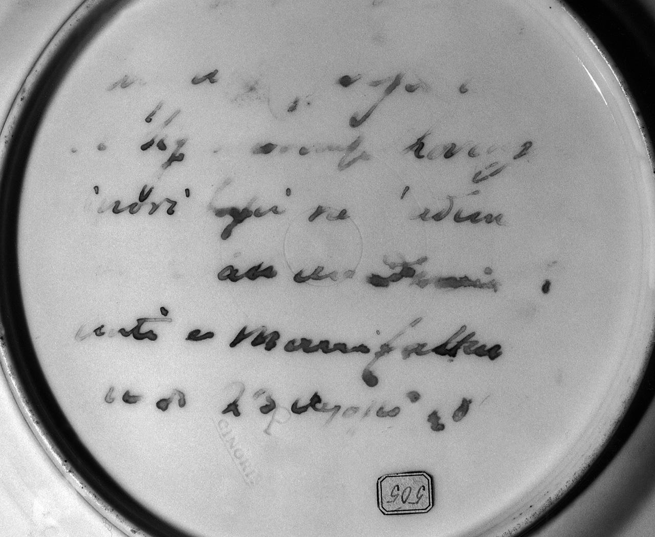 motivi decorativi vegetali (piatto) - manifattura Ginori di Doccia (sec. XIX)