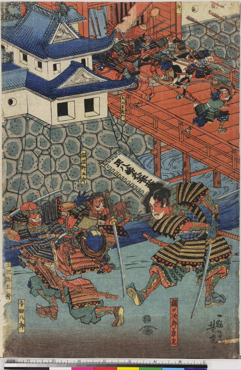 scena di guerra (stampa, stampa composita) di Utagawa Yoshitora - ambito giapponese (sec. XIX)