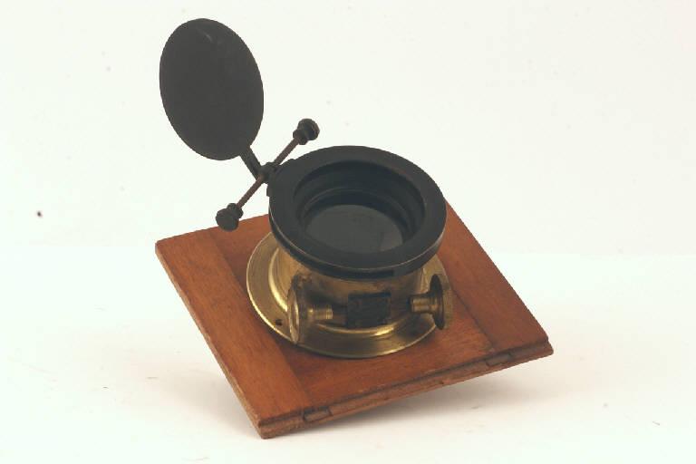 obiettivo fotografico, con messa fuoco a cremagliera - manifattura (secc. XIX/ XX)