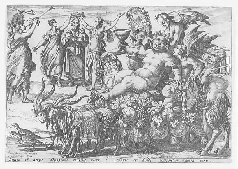 L'Autunno, Allegoria dell'Autunno (stampa smarginata, elemento d'insieme) di Tempesta Antonio, Tempesta Antonio, Tempesta Antonio (sec. XVI)